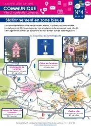 La Mairie vous informe N°4 - Stationnement en zone bleue